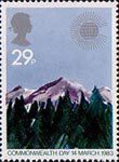 Commonwealth Day 29p Stamp (1983) Mountain Range