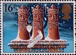 Christmas 1983 16p Stamp (1983) 'The Three Kings' (chimney-pots)