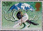Christmas 1983 20.5p Stamp (1983) 'World at Peace' (Dove and Blackbird)