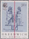 Centenary of Greenwich Meridian 31p Stamp (1984) Sir George Airey's Transit Telescope