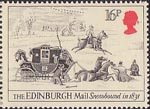 Royal Mail 16p Stamp (1984) Edinburgh Mail Snowbound, 1831