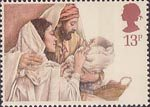 Christmas 13p Stamp (1984) The Holy Family
