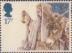 Christmas 17p Stamp (1984) Arrival in Bethlehem