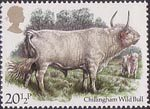 British Cattle 20.5p Stamp (1984) Chillingham Wild Bull
