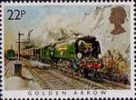 Famous Trains 22p Stamp (1985) Golden Arrow