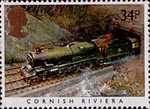 Famous Trains 34p Stamp (1985) Cornish Riviera
