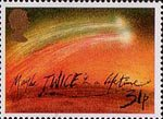Appearance of Halley's Comet 31p Stamp (1986) 'Twice in a Lefetime'