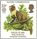 Nature Conservation - Species At Risk 22p Stamp (1986) Pine Marten