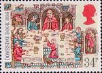 Medieval Life 34p Stamp (1986) Lord at Banquet