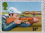 Sport 31p Stamp (1986) Rifle-shooting