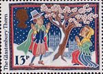 Christmas 1986 13p Stamp (1986) The Glastonbury Thorn
