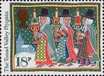 Christmas. Folk Customs 18p Stamp (1986) The Tanad Valley Plygain