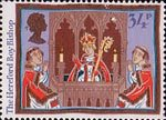 Christmas. Folk Customs 34p Stamp (1986) The Hereford Boy Bishop