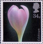 Flowers 34p Stamp (1987) Autumn Crocus