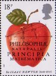 Sir Isaac Newton 18p Stamp (1987) The Principia Mathematica