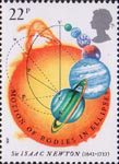Sir Isaac Newton 22p Stamp (1987) Motion of Bodies in Ellipses