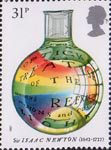 Sir Isaac Newton 31p Stamp (1987) Optick Treatise
