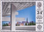 British Architects in Europe 34p Stamp (1987) European Investment Bank, Luxembourg