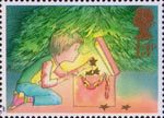 Christmas 13p Stamp (1987) Decorating the Christmas Tree
