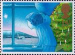 Christmas 18p Stamp (1987) Waiting for Father Christmas