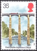 Industrial Archaeology 35p Stamp (1989) Pontcysylite Aqueduct, Clwyd