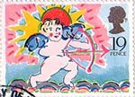 Greetings Booklet Stamps 19p Stamp (1989) Cupid