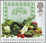 Food and Farming 19p Stamp (1989) Fruit and Vegetables