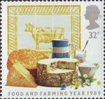 Food and Farming 32p Stamp (1989) Dairy Produce