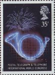 Anniversaries 35p Stamp (1989) Posthorn (26th Postal, Telegraph and Telephone International Congress, Brighton)