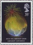 Anniversaries 35p Stamp (1989) Globe (Inter-Parliamentary Centenary Conference, London)