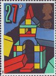 Europa. Games and Toys 27p Stamp (1989) Building Blocks