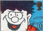 Greetings Booklet Stamps. 'Smiles' 20p Stamp (1990) Dennis the Menace