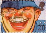 Greetings Booklet Stamps. 'Smiles' 20p Stamp (1990) The Laughing Policeman