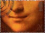 Greetings Booklet Stamps. 'Smiles' 20p Stamp (1990) Mona Lisa