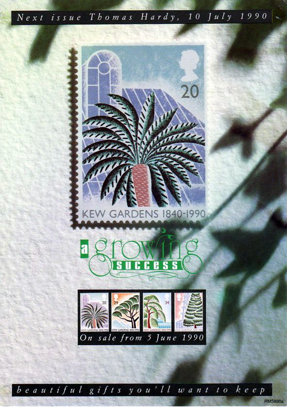 150th Anniversary Of Kew Gardens 1990 Collect Gb Stamps