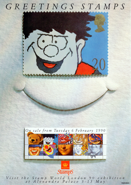 Greetings Booklet Stamps. 'Smiles' (1990)