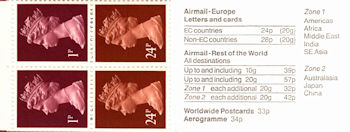 Booklet pane for Archaeology (1991)