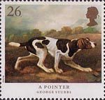 Dogs 26p Stamp (1991) 'A Pointer'