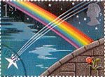 Greetings Booklet Stamps 'Good Luck' 1st Stamp (1991) Shooting Star and Rainbow