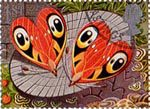 Greetings Booklet Stamps 'Good Luck' 1st Stamp (1991) Heart-shaped Butterflies