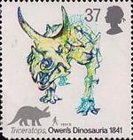 Dinosaurs 37p Stamp (1991) Triceratops