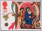 Christmas 1991 39p Stamp (1991) The Flight into Egypt