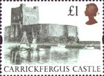 High Value Definitives �1 Stamp (1992) Carrickfergus Castle