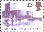 High Value Definitives �3 Stamp (1992) Carrickfergus Castle
