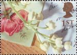 Greeting Stamps. 'Memories' 1st Stamp (1992) Flower Spray