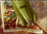 Greeting Stamps. 'Memories' 1st Stamp (1992) Model Car and Cigarette Cards