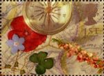 Greeting Stamps. 'Memories' 1st Stamp (1992) Compass and Map
