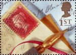 Greeting Stamps. 'Memories' 1st Stamp (1992) 1854 1d. Red Stamp and Pen