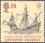 Europa. International Events 24p Stamp (1992) Santa Maria (500th Anniversary of Discovery of America by Columbus)