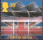 Europa. International Events 39p Stamp (1992) British Pavilion, EXPO 92 Seville
